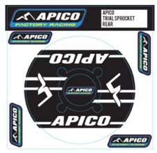 APICO TRIALS REAR SPROCKET STICKER 40T BLACK